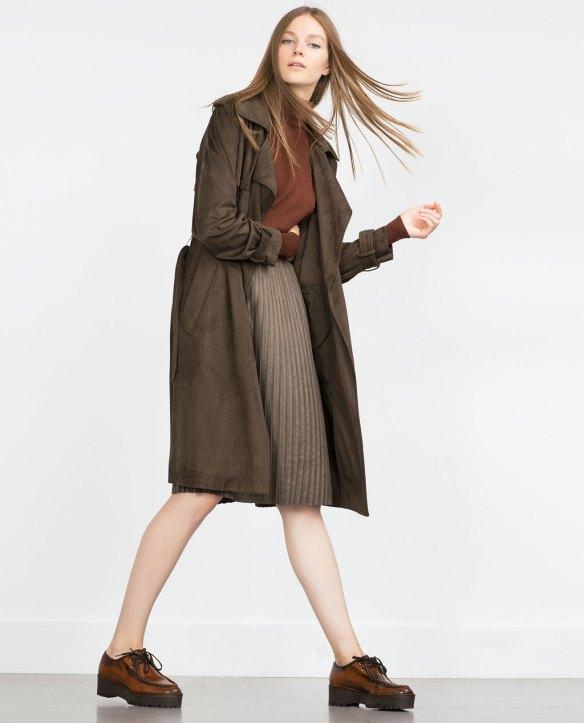zara-falda plisada